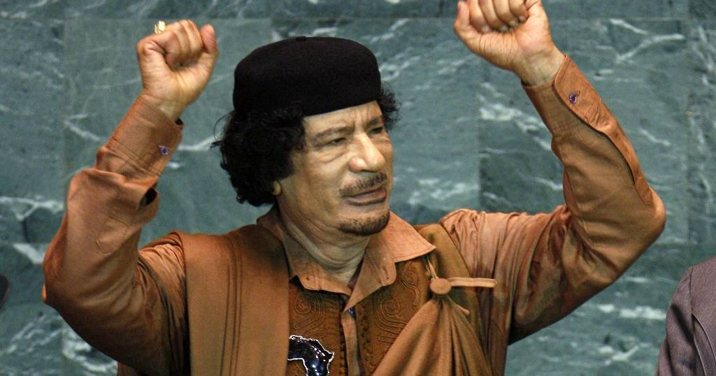 Muammar Qaddafi (sumber gambar: http://www.africanews.com/2017/09/19/speech-muammar-gaddafi-at-the-64th-un-general-assembly-in-2009/)