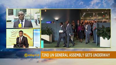 President Buhari arrives NY, to speak at UN General Assembly