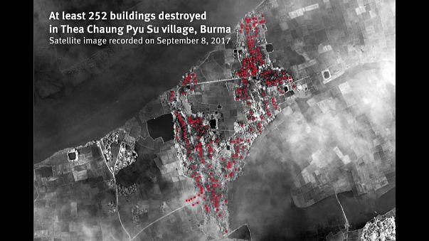 Myanmarlı Budistler Arakanlıların boşalttığı köyleri ateşe veriyor