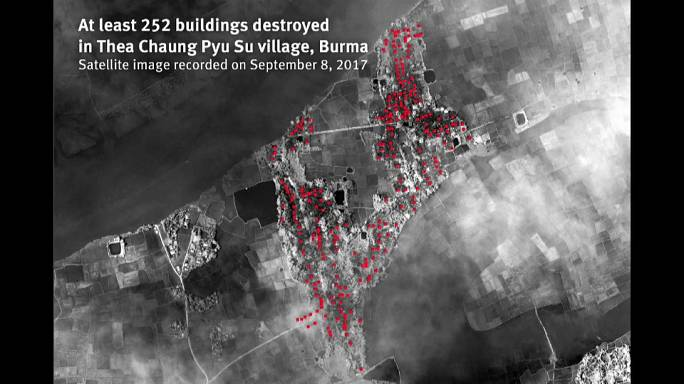 هيومن رايتس ووتش تتهم ميانمار باتباع سياسة الارض المحروقة لطرد الروهينغا