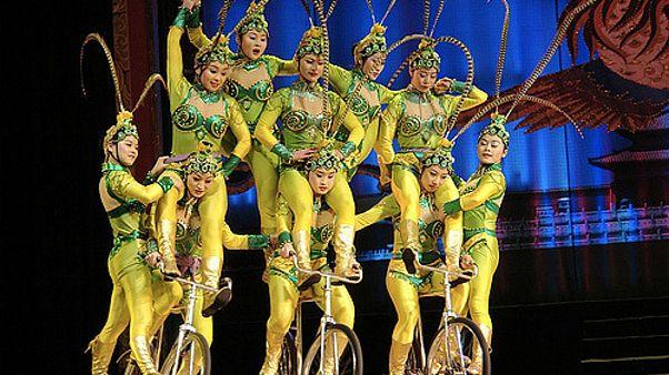 برگزاری مسابقات آکروبات در استان شاندونگ چین