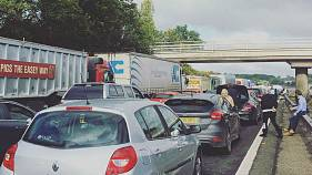 M1 motorway closed in England as bomb squad called in