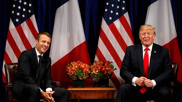 Trump praises French military might in meeting with Macron