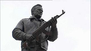 В Москве открыли памятник Калашникову