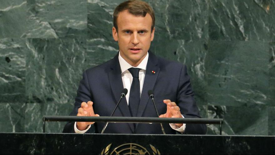 Macron takes softer stance than Trump in UN address