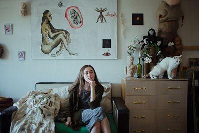 Alisa Gorshenina in her apartment in Nizhny Tagil, Russia.