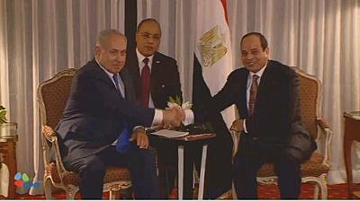 Egyptian and Israeli leaders discuss the Middle East peace process