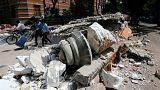 Pánik a földrengés után Mexikóvárosban