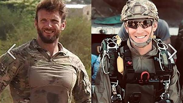 Image: French commandos Cedric de Pierrepont and Alain Bertoncello
