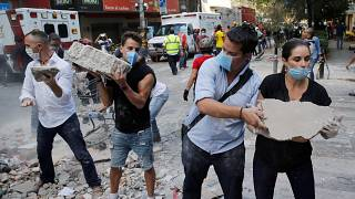 دانش آموزان دبستانی در میان قربانیان زمین لرزه مکزیک