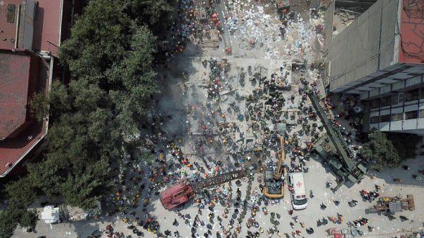 Nagyon sokan rekedtek a romok alatt Mexikóban