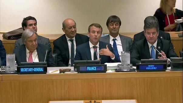 Macron se pose en défenseur du climat à l'ONU