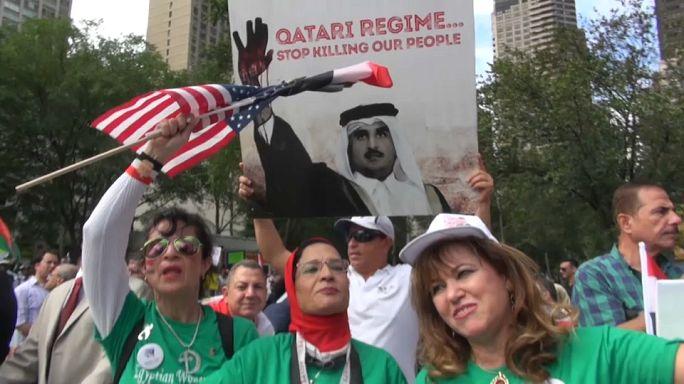 Manifestations à l'extérieur de l'ONU