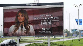 ميلانيا ترامب تجبر مؤسسة تعليمية على ازالة لوحات اعلانية اساءت إلى لغتها الانجليزية