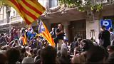 Protests in Barcelona after police raid Catalan government buildings