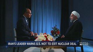 روحانی در مصاحبه اختصاصی با انبیسی-یورونیوز: با خروج آمریکا از برجام کسی به آمریکا اعتماد نخواهد کرد