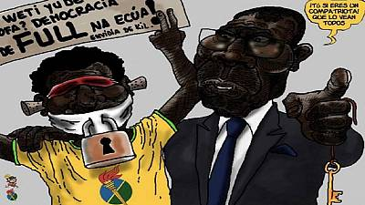 Equatorial Guinean activist detained without charge over political cartoons