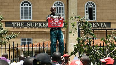 Teargas fired at protesters outside Kenya's Supreme Court