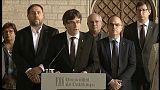 """Puigdemont: """"El estado español ha suspendido de facto la autonomía de Cataluña"""""""