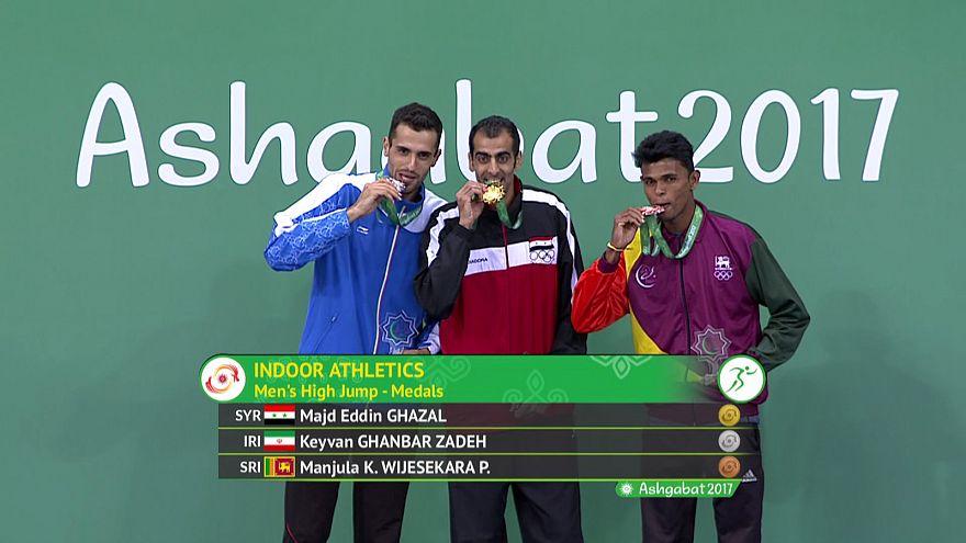 Suriyeli atlet Aşkabat'ta şampiyon oldu