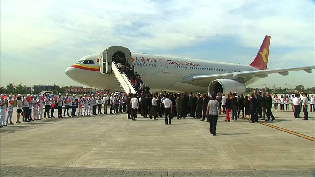 Airbus 330 descola da China