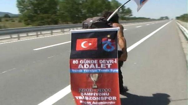Trabzonlu taraftarın adalet yürüyüşü: Şikeye karşı 80 gündür yollarda