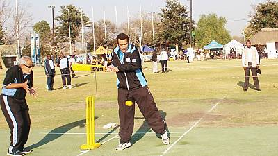 [Photo] Botswana's Khama plays cricket as vice represents him at U.N. summit