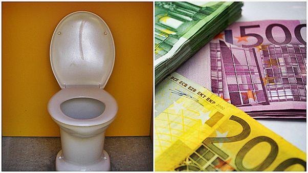 سوئیس؛ دو زن اسپانیایی ۱۰۰ هزار یورو اسکناس را در توالت ریختند