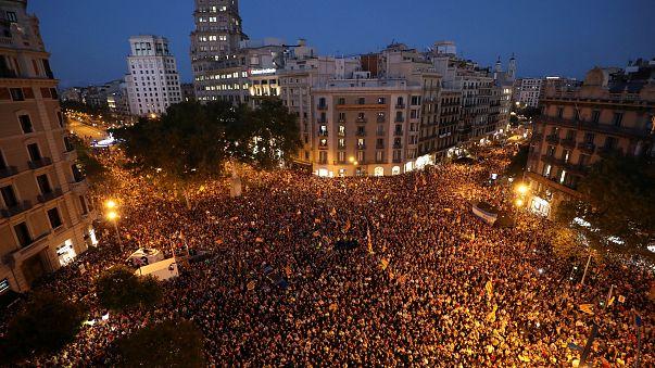 Katalonien: Proteste für Referendum gehen weiter