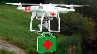خدمات رسانی پزشکی در سوئیس با پهپاد