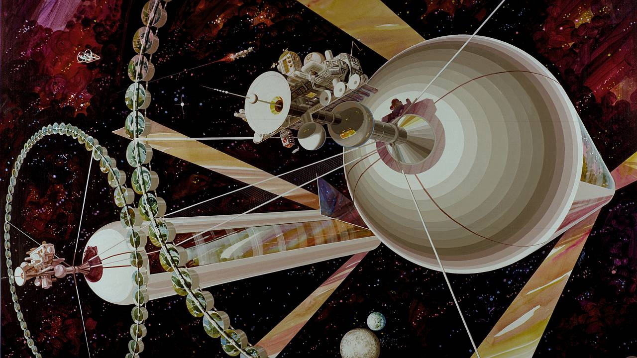 Physicist Gerard K. O'Neill proposed a space settlement design based on gia