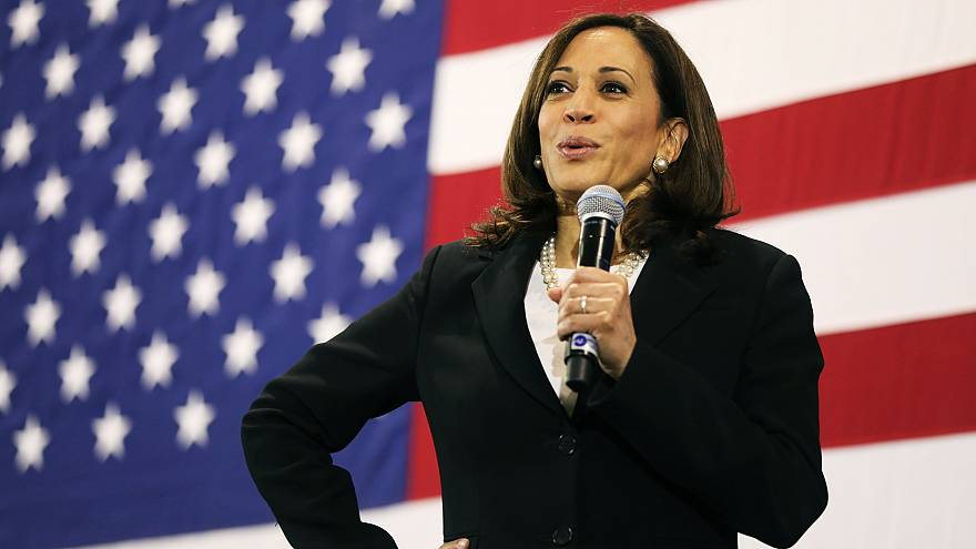 Image: Democratic Presidential Candidate Kamala Harris Holds Town Hall In N