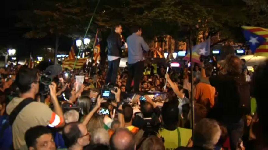 Tensión durante las protestas independentistas en Barcelona