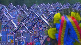 Um cemitério com arte