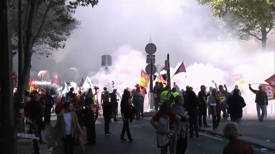 Французские профсоюзы протестуют против трудовой реформы