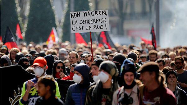 تظاهرات در اعتراض به اصلاح قانون کار در بسیاری از شهرهای فرانسه