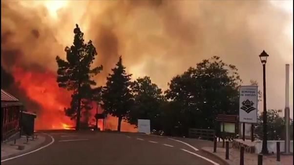 Arde el corazón de Gran Canaria