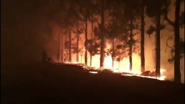 """حريق مهول بجزيرة """"غران كناريا"""" بجزر الكناري الاسبانية"""