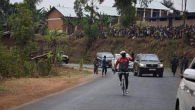 [Photos] Burundi president goes cycling with armed convoy