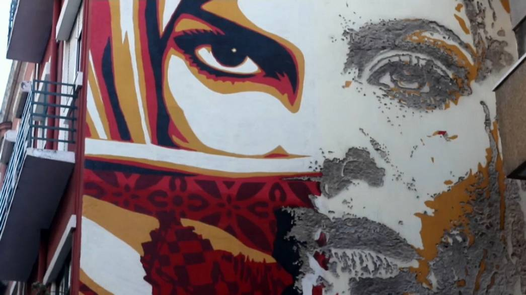 Boom! goes the dynamite - Vhils sees his name up in...gunpowder
