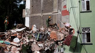 شاهد: انفجار مبنى خلال الزلزال الذي ضرب المكسيك