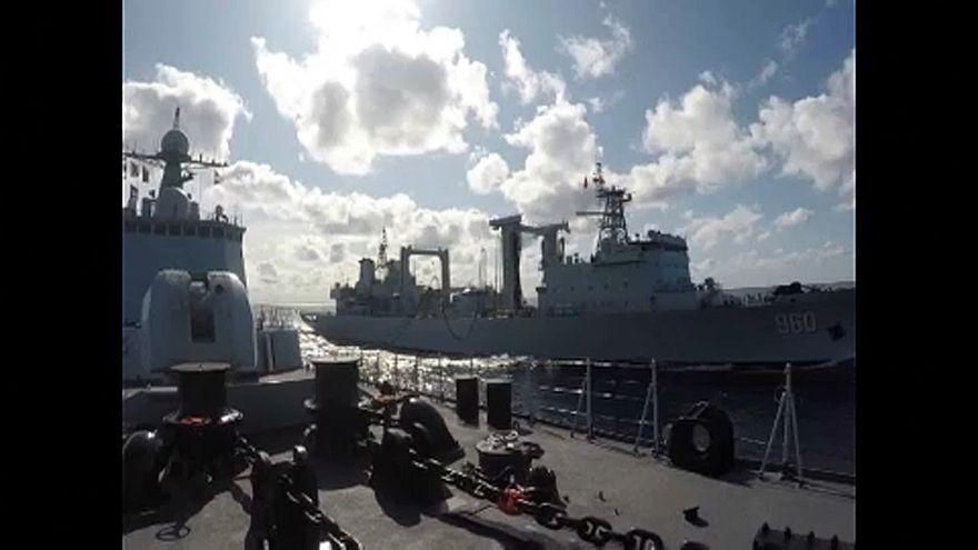 Российские и китайские корабли вышли в море