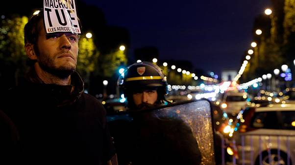 The last straw: French farmers block Champs Elysees in Paris to protest herbicide ban