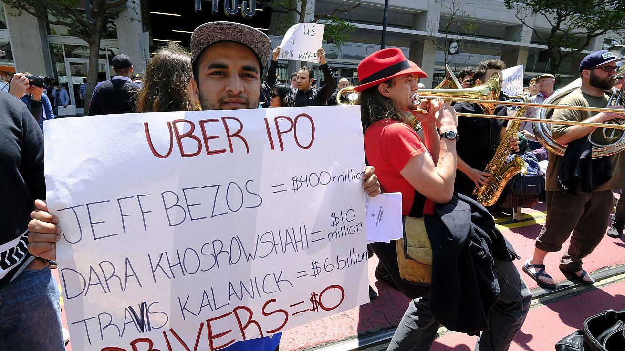 Image: Uber driver strike