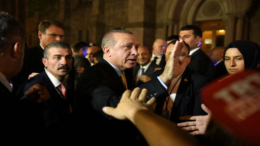 Erdogan supporters beat up protestors at New York speech