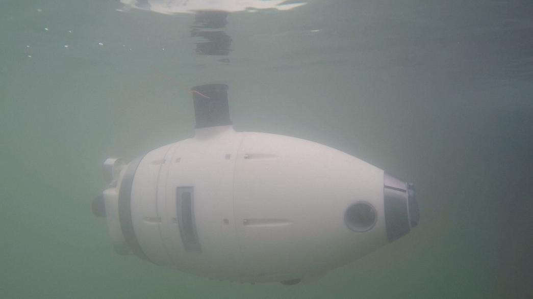 Robôs subaquáticos na profundeza de Veneza