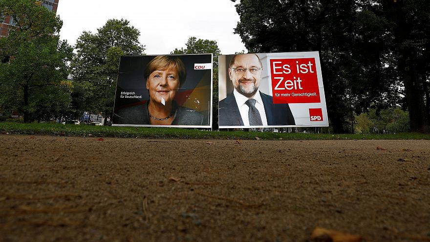 Merkel, Schulz reach out to undecided voters as far-right surge looms