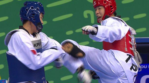 Jogos em Asgabate: Sul-coreanos com sete medalhas em taekwondo