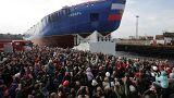 """""""سيبيريا"""" أقوى كاسحة جليد روسية في القطب الشمالي"""