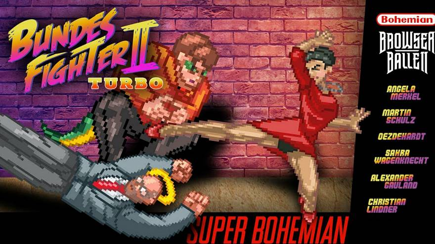 German election rivals battle it out in Street Fighter parody